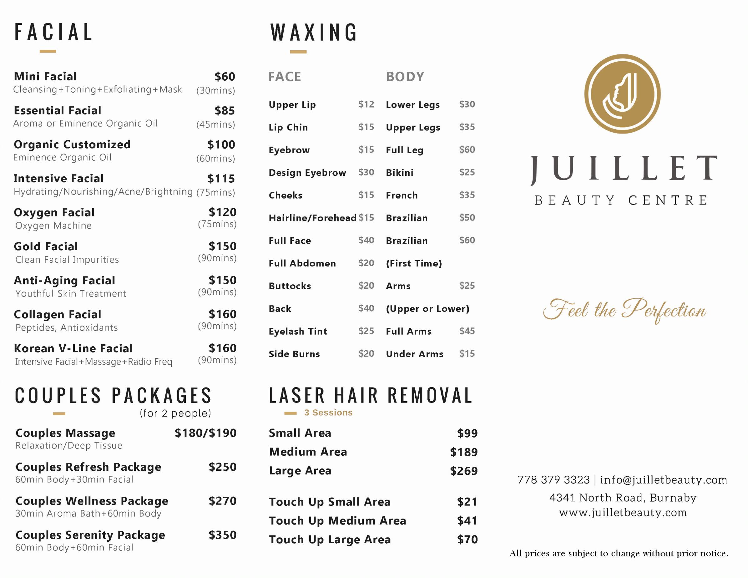 Juillet 2019 Spa Menu 2 updated
